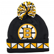 "Boston Bruins Mitchell & Ness NHL ""2 Face"" Cuffed Knit Hat w/ Pom"