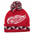 "Detroit Red Wings Mitchell & Ness NHL ""2 Face"" Cuffed Knit Hat w/ Pom"