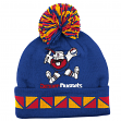 "Denver Nuggets Mitchell & Ness NBA Throwback ""2 Face"" Cuffed Knit Hat w/ Pom"