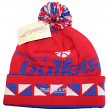 "Washington Bullets Mitchell & Ness NBA Throwback ""2 Face"" Cuffed Knit Hat w/ Pom"