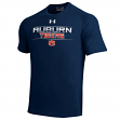 Auburn Tigers Under Armour NCAA Tech Performance S/S Shirt - Navy