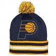 Indiana Pacers Adidas NBA Name & Logo Cuffed Premium Knit Hat w/ Pom