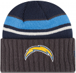 San Diego Chargers New Era NFL Prep Class Cuffed Knit Hat