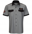 "Chicago Bears NFL G-III ""Check Screen"" Button-Up Pit Crew Polo Shirt"