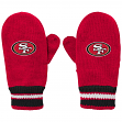 San Francisco 49ers Youth NFL Team Logo Embroidered Mittens