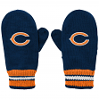 Chicago Bears Youth NFL Team Logo Embroidered Mittens