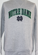 Notre Dame Fighting Irish NCAA Embroidered Crew Men's Sweatshirt - Grey