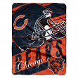 "Chicago Bears NFL Deep Slant 46""x60"" Micro Raschel Throw Plush Blanket"