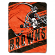 "Cleveland Browns NFL Deep Slant 46""x60"" Micro Raschel Throw Plush Blanket"