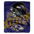 "Baltimore Ravens NFL ""Grand Stand"" 50""x60"" Raschel Throw Plush Blanket"