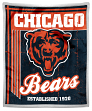 "Chicago Bears NFL ""Old School"" Mink Sherpa 50""x60"" Throw Blanket"