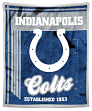 "Indianapolis Colts NFL ""Old School"" Mink Sherpa 50""x60"" Throw Blanket"