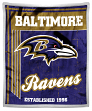 "Baltimore Ravens NFL ""Old School"" Mink Sherpa 50""x60"" Throw Blanket"