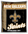 "New Orleans Saints NFL ""Old School"" Mink Sherpa 50""x60"" Throw Blanket"