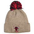 "Chicago Bulls Mitchell & Ness NBA ""Beige Speckle"" Premium Cuffed Knit Hat w/ Pom"