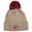"Miami Heat Mitchell & Ness NBA ""Beige Speckle"" Premium Cuffed Knit Hat w/ Pom"