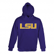 LSU Tigers NCAA Team Color Embroidered Hooded Sweatshirt