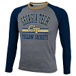 Georgia Tech Yellowjackets NCAA Cover 2 Long Sleeve Raglan Tri Blend T-Shirt