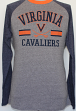 Virginia Cavaliers NCAA Cover 2 Long Sleeve Raglan Tri Blend Men's T-Shirt