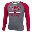 Stanford Cardinal NCAA Cover 2 Long Sleeve Raglan Tri Blend Men's T-Shirt
