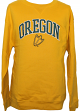 Oregon Ducks NCAA Embroidered Crew Sweatshirt - Yellow