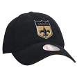 New Orleans Saints Mitchell & Ness NFL Throwback Felt Logo Slouch Adjustable Hat