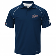 """Detroit Tigers Majestic MLB """"Bases Loaded"""" Men's Performance Polo Shirt - Navy"""