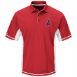"Los Angeles Angels Majestic MLB ""Top of the Inning"" Men's Performance Polo Shirt"