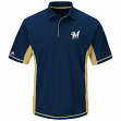 "Milwaukee Brewers Majestic MLB ""Top of the Inning"" Men's Performance Polo Shirt"