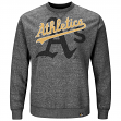 "Oakland Athletics Majestic MLB ""Cleanup Hitter"" Men's Crew Sweatshirt"