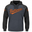"Baltimore Orioles Majestic MLB ""Cunning Play"" Men's Hooded Sweatshirt - Charcoal"
