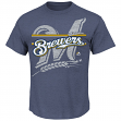 "Milwaukee Brewers Majestic MLB ""Rise to Victory"" Short Sleeve Men's T-Shirt"