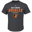 "Baltimore Orioles Majestic MLB ""All the Way Game"" Men's Charcoal S/S T-Shirt"