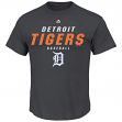 "Detroit Tigers Majestic MLB ""All the Way Game"" Men's Charcoal S/S T-Shirt"