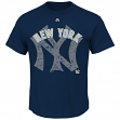 """New York Yankees Majestic MLB """"Domination"""" Cooperstown Men's T-Shirt"""