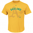 "Oakland Athletics Majestic MLB ""Domination"" Cooperstown Men's T-Shirt"