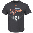 "Detroit Tigers Majestic MLB ""Winner"" Short Sleeve Men's Charcoal T-Shirt"