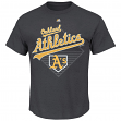 "Oakland Athletics Majestic MLB ""Winner"" Short Sleeve Men's Charcoal T-Shirt"