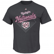 "Washington Nationals Majestic MLB ""Winner"" Short Sleeve Men's Charcoal T-Shirt"