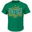 "Oakland Athletics Majestic MLB ""Fast Breakin"" Short Sleeve Men's T-Shirt"