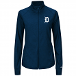 Detroit Tigers Women's Majestic Sweetheart Full Zip Fashion Top Shirt
