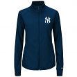 New York Yankees Women's Majestic Sweetheart Full Zip Fashion Top Shirt