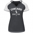 "Chicago White Sox Women's Majestic MLB ""Golden Future"" S/S Split Neck Shirt Top"