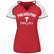 "Philadelphia Phillies Women's Majestic ""Golden Future"" S/S Split Neck Shirt Top"