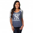 "New York Yankees Women's Majestic MLB ""Break Out"" Scoop Neck Dual Blend Shirt"