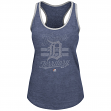 "Detroit Tigers Women's Majestic MLB ""Crushing It"" Scoop Neck Tank Top"