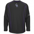Colorado Rockies Majestic MLB Authentic On-Field Crew Pullover Sweatshirt