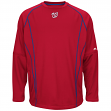 Washington Nationals Majestic MLB Authentic On-Field Crew Pullover Sweatshirt