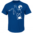 Indianapolis Colts Majestic NFL Playoffs Throwback Short Sleeve Men's T-Shirt