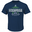 "Seattle Seahawks Majestic 2014 NFC Conference Champions ""Choice"" S/S T-Shirt"